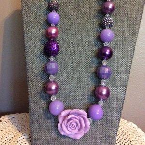 Chunky Purple Necklace